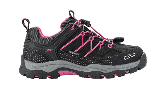 CMP Campagnolo Rigel Low WP Shoes Boys antracite-hot pink